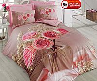 Постельное белье Cotton box Ранфорс Floral Seri 3D ROSA PEMBE