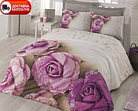 Постельное белье Cotton box Ранфорс Floral Seri 3D LORELLA LILA