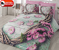 Постельное белье Cotton box Ранфорс Floral Seri 3D  SAKURA PEMBE