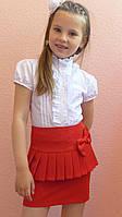 """Школьная юбка, юбка для девочек  """"Баска"""" красный, фото 1"""