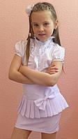 """Школьная юбка, юбка для девочек  """"Баска"""" белый"""