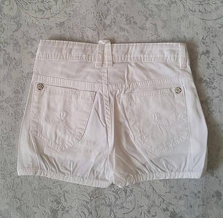 Белые шорты для девочек 128,134,140,146,152 роста A-yugi, фото 2