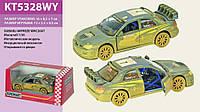 Машинка KINSMART металлическая Subaru Impreza WRC 2007 (Muddy) KT5328WY