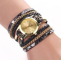 Часы женские Женева с черным ремешком код 125