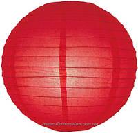Бумажный подвесной фонарик, красный, 40 см
