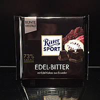 Натуральный черный горький шоколад Ritter Sport Edel-Bitter