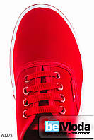 Классические женские кеды Wonex Red на оригинальной подошве красные