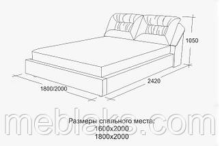 Кровать подъемный механизм+ мягкое изголовье  Дуэт (1,8м х 2,0м)   Udin, фото 3
