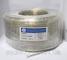 07-13-03. Кабель прозрачный круглый 2х0,35кв.мм (Tin CCA) 100м