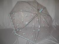 """Прозрачный зонт с цветочным узором от фирмы """"SMILE"""""""