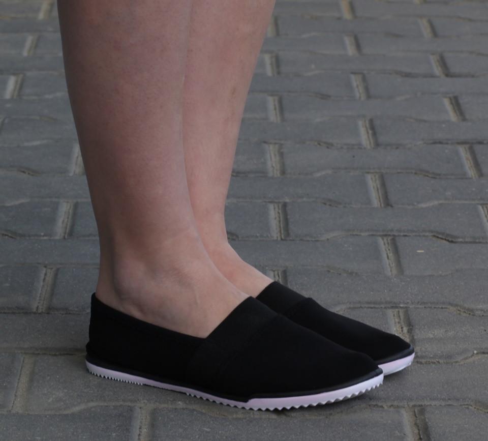 Женские слипоны Кристина  Черный