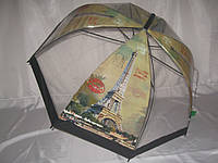 """Прозрачный молодёжный зонт """"ейфелева башня"""" №307 от фирмы """"SWIFTS"""""""