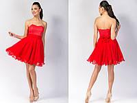 """Короткое нарядное платье-корсет """"Evelina"""" с расклешенной юбкой (4 цвета)"""