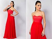 """Длинное нарядное платье-корсет """"Evelina Maxi"""" с шифоновой юбкой (5 цветов)"""