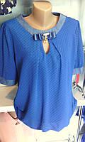 Женская нарядная блуза в горошек
