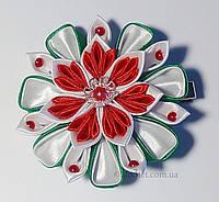 Заколка для волос  Handmade By Kate kk16 красный с зеленым и белым