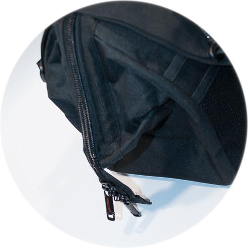 закрытый замок на сумке