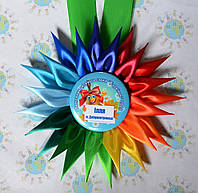Медаль Выпускник с розеткой Семицветик