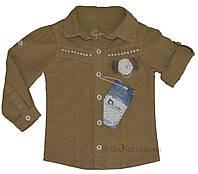 Рубашка для девочки Overdo Kids 3256-1 р.92 бежевый