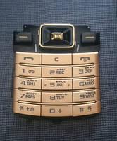 Клавиатура для Samsung D780 Duos, AAA Class, High Copy, Золотистая