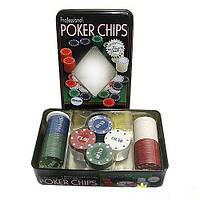Фишки для покера с номиналом 100 шт