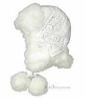 Зимняя шапка для девочки Klimani Марго р.54 белый