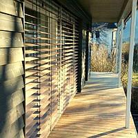 Фасадные деревянные жалюзи