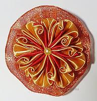 Заколка для волос красный золотой Handmade By Kate zz1 красный с золотом