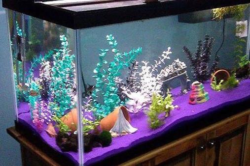 Цветной песок и крошка мраморная для аквариума