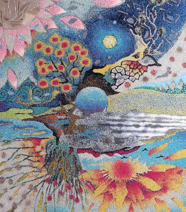 художникам. Цветной песок для рисования