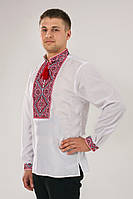 Вышитая мужская рубашка скрассным орнаментом
