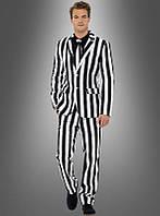 Мужской костюм черно-белый