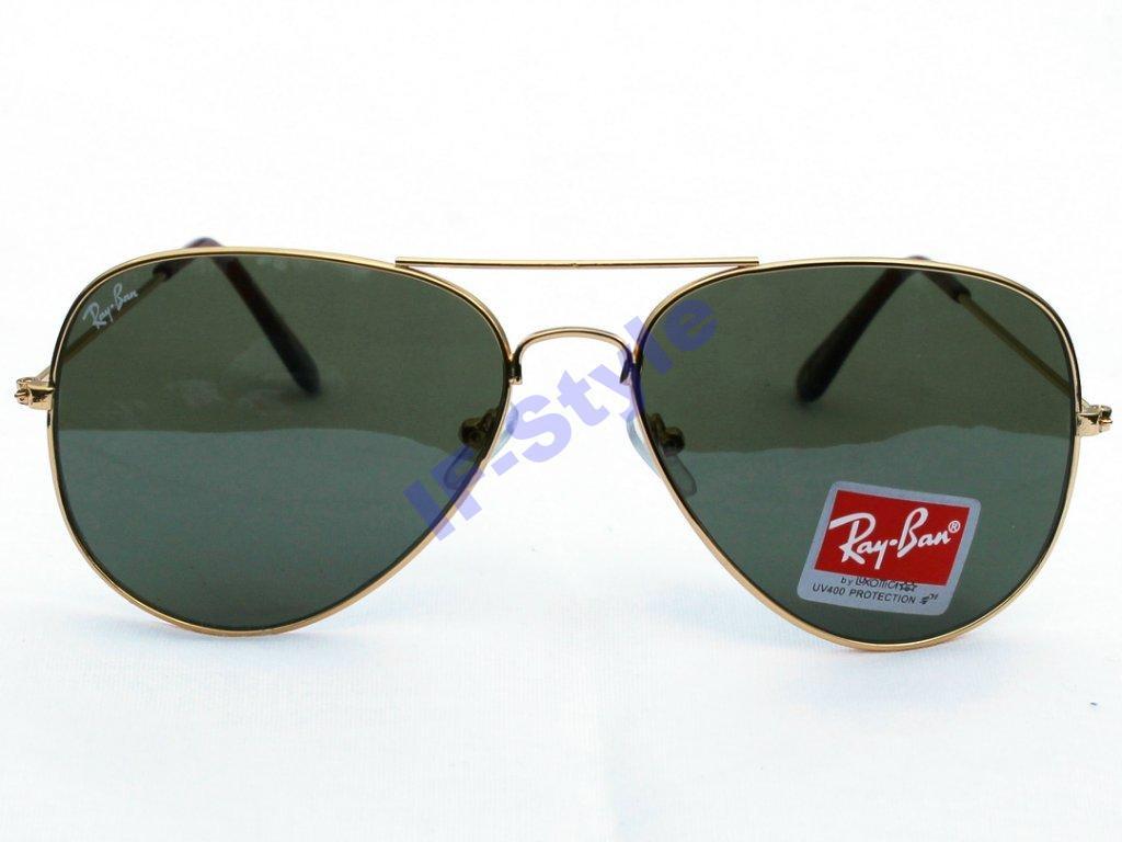 15639f74af05 Солнцезащитные очки R-B Aviator Капли 3026 Золото Зеленые - iOpt  Оптово-Розничный Интернет-Магазин