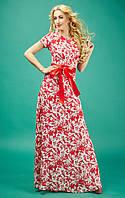 Длинное летнее платье из шифона Ирэн