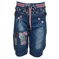 Шорты джинсовые с Китти для девочки, на 2,3 года, Турция