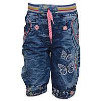 Шорты джинсовые с бабочками для девочки, на 4 года, Турция , фото 1