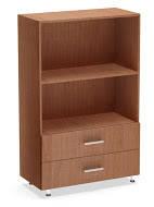 Стеллаж сглухими фасадами СТОМ-4.1 мебель офисная