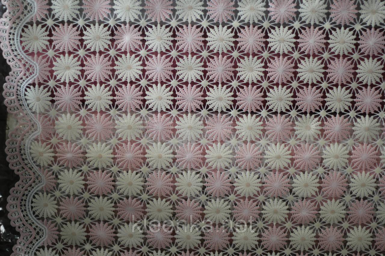 Клеенка на кухонный стол Ажур Маленькие нежно-розовые цветочки
