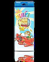 """Карандаши графитные """"MARCO"""" №1000EB-12CB Colorite с ластиком (12 шт)"""