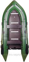 Четырехместная ПВХ лодка под мотор Bark BN-360S жесткое дно/надувной киль