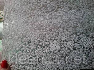 Скатерть на праздничный стол  Ажур Маленькие розочки, фото 2