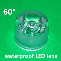 Линза для светодиода LED Lens 1-3W 60° с держателем 20mm