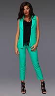 Костюм женский брюки и жилетка в расцветках 10459, фото 1