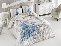 Набор постельного белья сатин печатный 200х220 Cotton box DEFNEMAVI нежные букеты