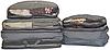 Набор 5 шт. Сумка органайзер для вещей в чемодан, богажник. ORGANIZE. Цвет: серый.
