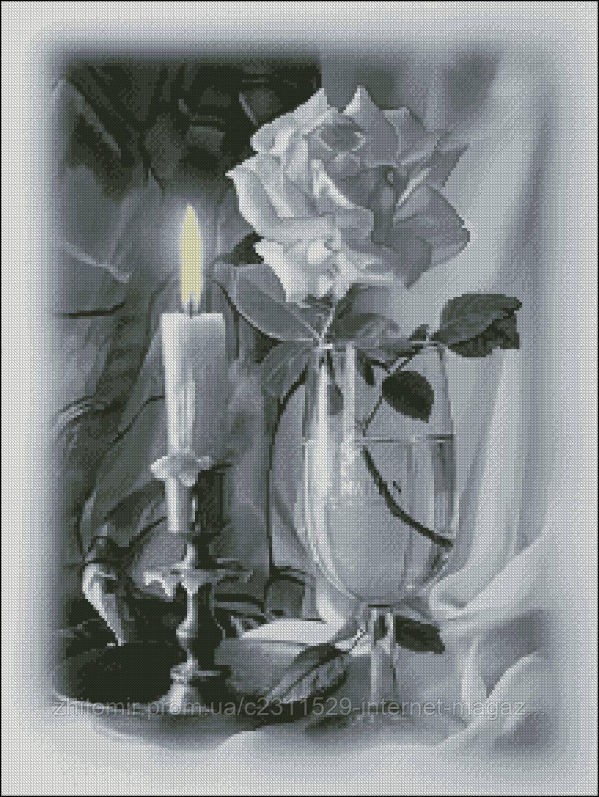 схема на канве роза
