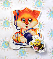 Магнитный стенд для крепления рисунка Кот с нитками