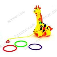 Животное Q 100 жираф, каталочка-кольцеброс, свет, звук, на бат-ке