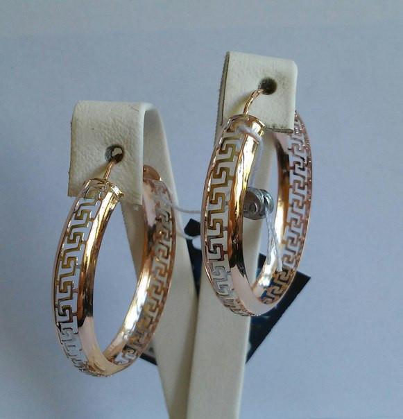 золотые серьги кольцами цена фото