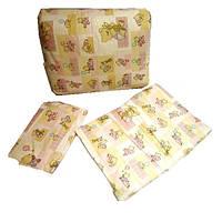 Комплект постельный 40486 - 3 предмета, Мишка на коврике, бежевый
